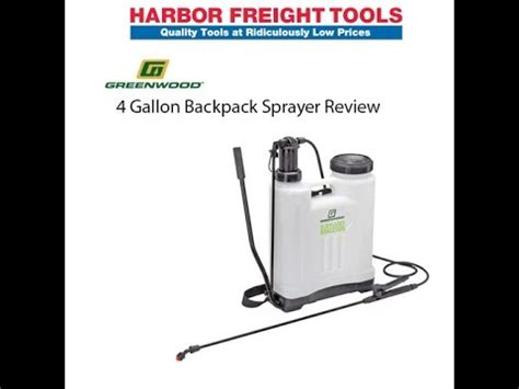 harbor freight greenwood  gallon backpack sprayer review