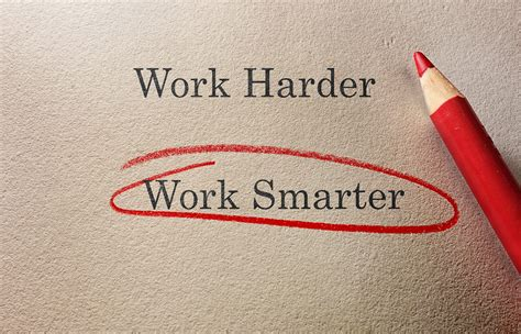 I Work by 5 Ways To Work Smarter Not Harder Selling Energy