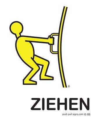 Aufkleber Dr Cken Ziehen by Drucken Und Ziehen Schilder German Push And Pull Signs