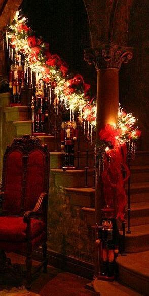 stairwell christmas garland lighting 1000 ideas about stairs decorations on staircase garlands and
