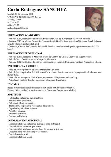 Modelo Curriculum Vitae Dependienta Tienda Modelo De Curr 237 Culum V 237 Tae Cajero Cajero Cv Plantilla Livecareer
