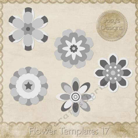Layered Flower Card Template by Flower Layered Templates Pkg 17 Cup748532 70864