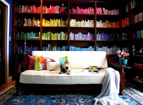 color library home library design