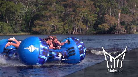 crazy boat tubes ho sports molecule 3 person towable tube youtube