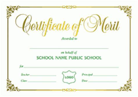 merit certificate sample prepossessing formal award certificate