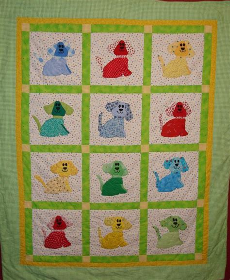 Free Baby Quilt Applique Patterns by Appliqu 233 Quilting By Or Machine
