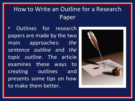 how to make an outline for a research paper exles how to write an outline for a research paper