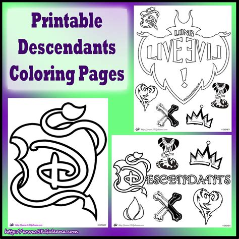 Descendants Printable Pictures free disney descendants coloring pages skgaleana