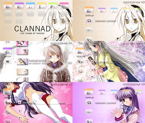 psp theme love clannad psp theme by takebo on deviantart
