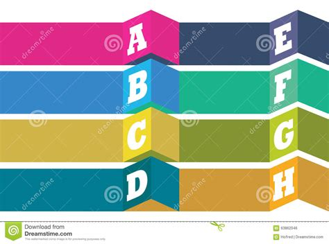 layout vector design vector layout design with alphabet bullet points list