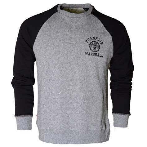 Marshall Raglan franklin marshall va130am raglan print neck grey