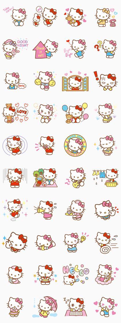 printable hello kitty stickers hello kitty animated stickers line sticker riri