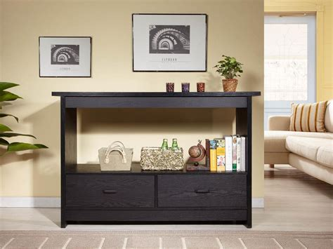 Entryway Table With Drawers And Shelves Stabbedinback