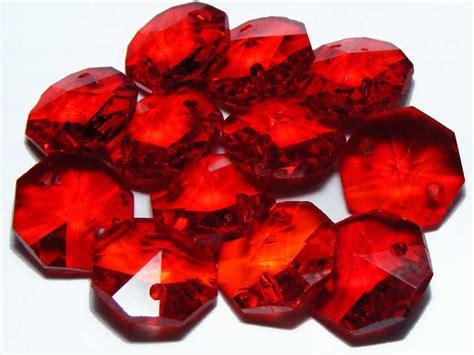 Ruby Oktagon ruby glass 14mm color octagon