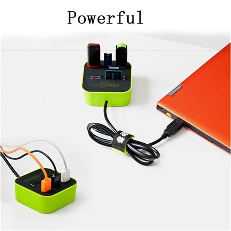 Card Reader Combo Multi Usb Hub 20 Sd Mmc Ms M2 Microsd combo multi card reader 3 usb hub 2 0 splitter black