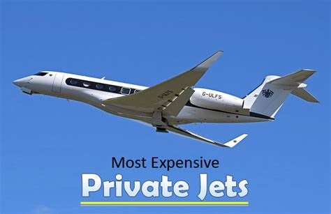 Most expensive private jets fine high living