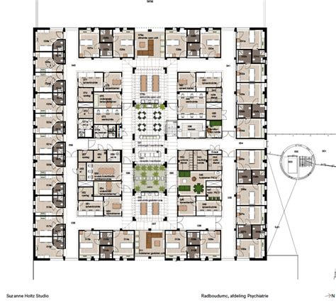 layout hospital hospital interior design floor plan and layout psychiatry