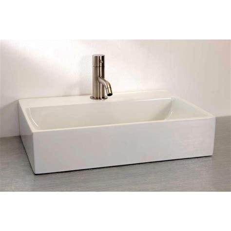 countertop bathroom basins finwood designs thin rectangular countertop basin uk