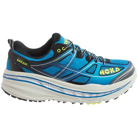 running shoes for review hoka one one stinson 3 atr trail running shoes for
