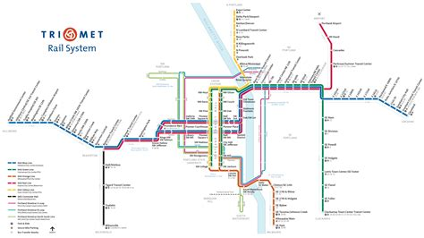 trimet max map maps and schedules for trimet buses max and wes
