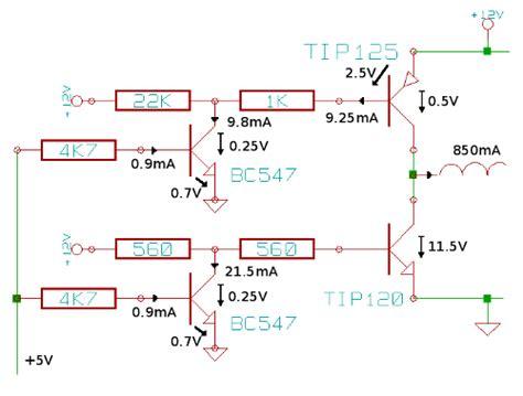 transistor darlington calculo manejador de potencia motor paso a paso la p 225 de daniel stolfi