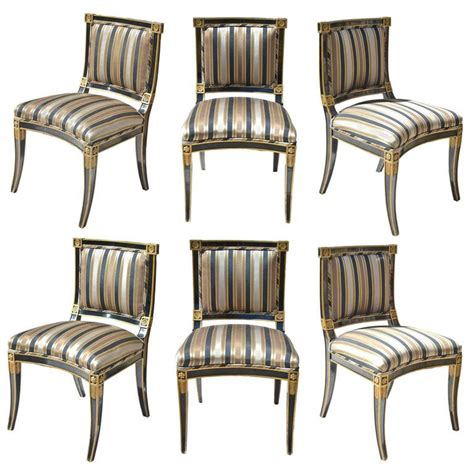 Black And Gold Dining Chairs by Classical Style Chairs In Black And Gold At 1stdibs
