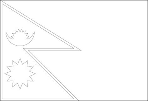 nepal map coloring page nepal flag outline