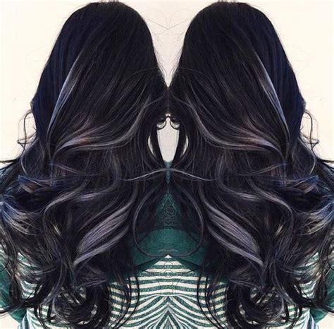 black hair with grey streaks amazing grey silver highlights