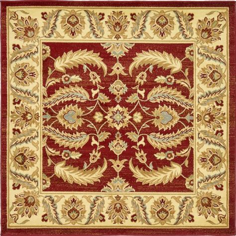 6 x 6 square rug unique loom agra 6 ft x 6 ft square rug 3132965 the home depot