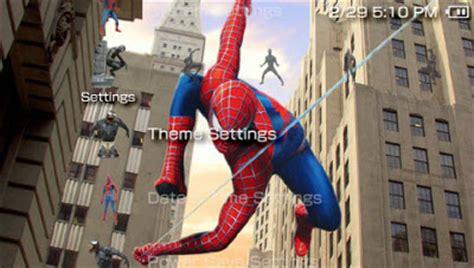 themes psp spiderman free psp theme spiderman psp theme download