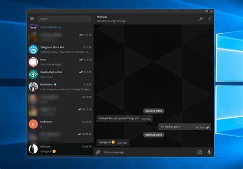 telegram black themes telegram s windows app reaches 1 0 gets an improved