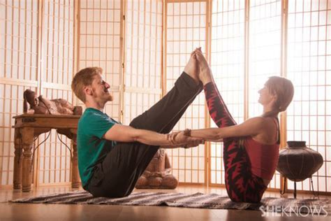 boat pose holding toes 7 couples yoga poses for beginners that ll bring you
