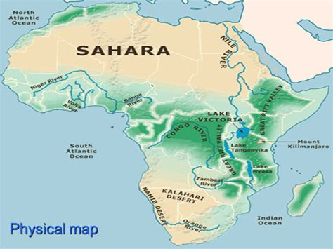 africa map geographical features physical geography of africa guiding question how does