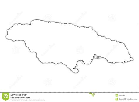 sketch map of jamaica jamaica outline map stock photography image 4360482