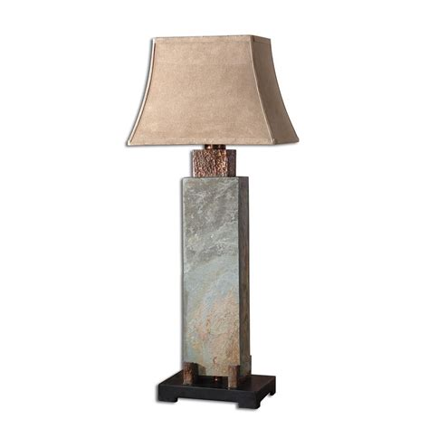 uttermost  slate tall table lamp atg stores