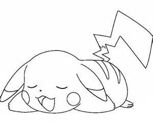 pikachu esausto da colorare per bambini disegni da