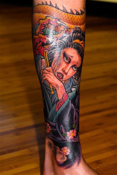 tattoo geisha na perna 58 tatuagens de gueixas semana oriental