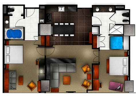 elara 4 bedroom suite floor plan elara a hilton grand vacations 2 king 2 bedroom premier