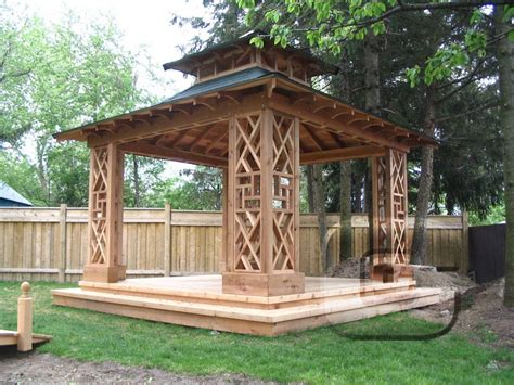 wooden garden gazebo plans pergola design ideas
