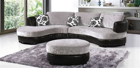 gray and black couch two tone grey black modern sectional sofa w ottoman