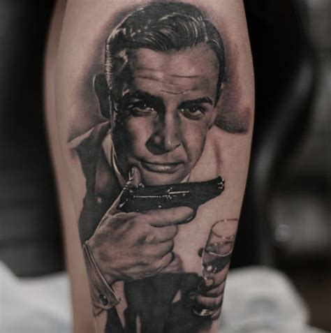 sean connery tattoo shaken not stirred epic 007 bond tattoos tattoodo