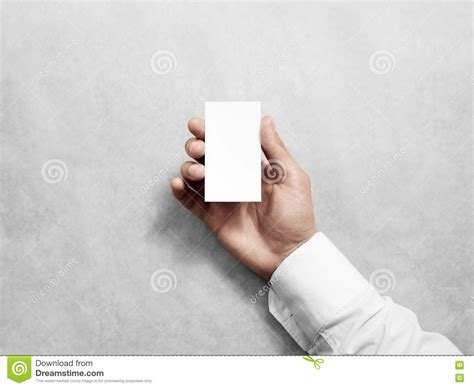 holding business card template hold blank vertical white business card design mockup