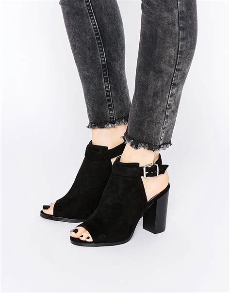 boohoo boohoo open back peep toe shoe boot at asos