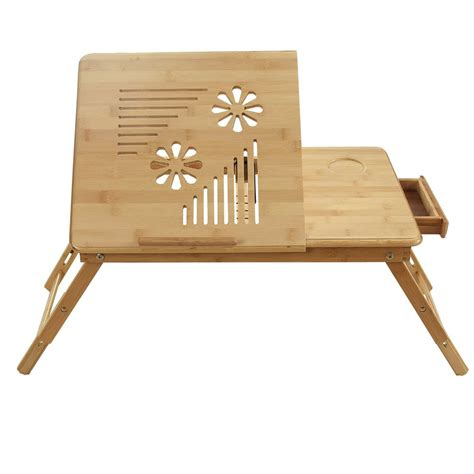 bamboo computer lap desk folding bed tray table and breakfast tray bamboo bed table