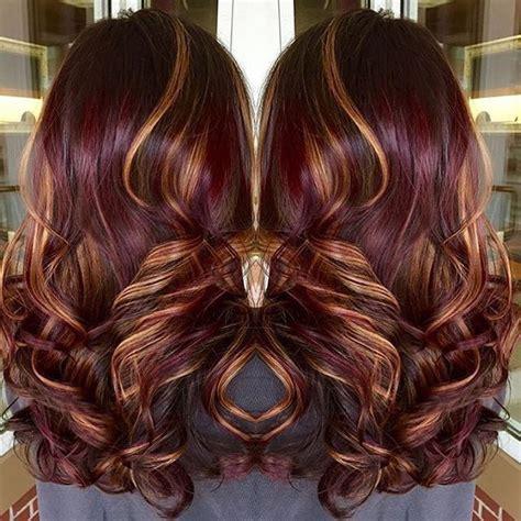 burgundy hair color with highlights best 25 burgundy hair highlights ideas on