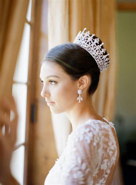 Wedding Hairstyles With Crown by Bridal Crown Swarovski Wedding Crown Portia