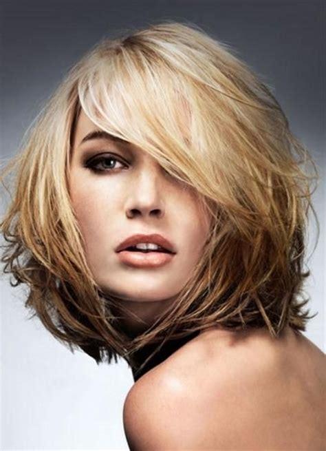 elegant medium haircuts thin hair round face pertaining to