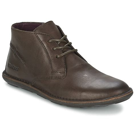 Chaussures Kickers by Kickers Swibo Marron Livraison Gratuite Avec Spartoo Chaussures Boots Homme 97 99