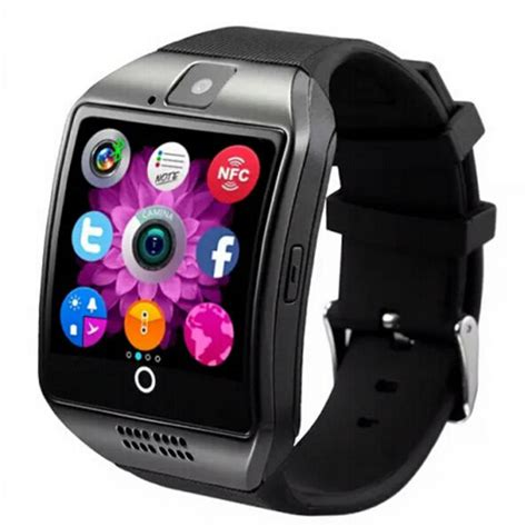 smart q18 smartwatch nfc alarm clock with touch