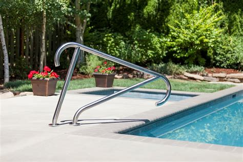 Inground Swimming Pool Handrails cool articles from s r smith swimming world news